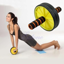 W110 New Arrive Dual ABS Abdominal Roller Wheel Workout Exerciser Fitness Gym Roller Exercise(China (Mainland))