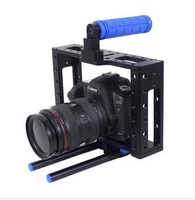 DSLR camera Cage BMCC cage with top handle for 5d3 5D2 7d with 15mm rod block rig