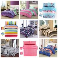 60 styles Promotion Free Shipping  2014 New Arrival  V cotton bedding set 4pcs/3pcs duvet cover  sheet  pillowcase bed setting