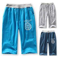 Children's clothing Child big boy 14 summer thin trousers cotton capris knee-length pants casual sports pants 120-140-160cm boy