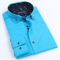 New 2014 Men'S Long Sleeve Brand Dress Shirts Commercial Shirts Casual Blue Tuxedo Shirt Men'S Shirt Men's Clothing XG50-223