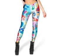 Outfit Cartoon leggings 2014 Women UNDER THE SEA Digital Print legging Fitness Leggins Girls Casual Pants High Quality S106-521