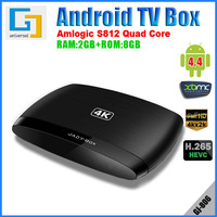 DHL free Smart TV Box android 4.4 Quad-core 2GB RAM Amlogic S802 2Ghz ROM 8GB Wi-Fi HDMI 4K  DLNA Miracast GJ806 media player