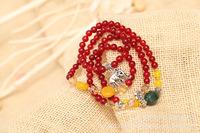 Natural red garnet bracelet. Pure natural crystal lovers bracelet. Fashion bracelet.