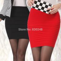 2014 women shorts Slim hip short skirt bust skirt female elastic high waist pleated skirt a-line skirt step