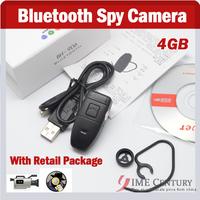 With Retail Package,4GB Bluetooth Headset Hidden Camera 4GB,Bluetooth Spy Camera, HD Resolution Camera Video Recorder BH-906