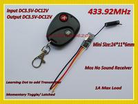 433.92mhz Micro Remote Control Switch Mini Receiver 3.5v 3.7v 4.5v 5v 6v 7.4v 8.4v 9v 12v Long Range Small Receiver Transmitter
