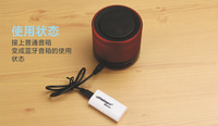 Hot Sale 2014 New USB Speaker Stereo Music Audio Bluetooth Receiver Wireless Speaker Adapter Black and white