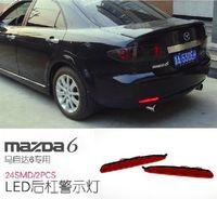 Free Shipping Car Red Len Rear Bumper Reflector LED Stop Brake LED brake rear Lamp LED brake red rear parking light for Mazda 6