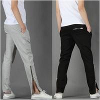 M-2XL 2014 Brand Man Pants Winter Cotton Panties Mens Sport Pants Men Zipper Style Sweatpants Couples Leisure Harem pants AX784