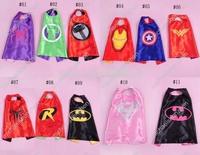 11 Styles 70cm Superhero Kids Superman Capes Superman Batman Spiderman Supergirl Batgirl Robin kids Christmas Hallowe cape
