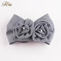 Black White Stripe with Clear Rhinestone Hairgrip Net Hairclip #703