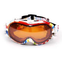 2015 Winter Men Women Ski Goggles Double Lens UV-Protection Anti-Fog Skiing Glasses Snowboard Protective Spectacles 21 Color 266