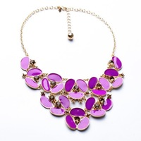fashion necklaces for women 2014 hot selling Flowers short joker women's club necklace Clothing accessories