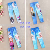 2014 new autumn spring girls frozen leggings children pants baby girl Elsa Anna legging a-038