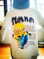 free shipping 2014 children's wear short sleeve 2-5 years old children's cartoon cute Precious Milk Dad T-shirt