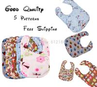 Happy Flute snap bib 5 patterns free shipping