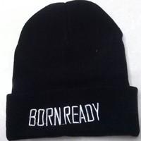 10 PCS/LOT  born ready Beanies Autumn Winter Wool Knitted Men Women Caps Casual Skullies Hip-hop