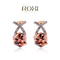 ROXI 2014 Earrings For Women gold Drop Earrings Fashion Crystal Brincos Jewelry Gift 410 Free Shipping