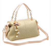 2014 New Designer Women Handbag Bowknot Vintage Women One Shoulder Bag PU Leather Women Leather Rivet Messenger Bags
