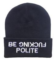10 PCS/LOT be fucking polite Beanies Autumn Winter Wool Knitted Men Women Caps Casual Skullies Hip-hop