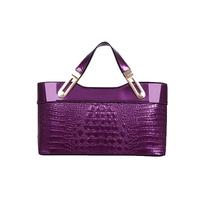 2014 New Arrival Fashion Women Handbag Crocodile Pattern PU Leather Shoulder Bag Tote Women Messenger Bags Casual Women Bag