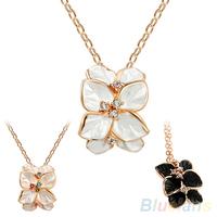 Women's Multilayer Gardenia Flower Decoration Choker Chain Short Necklace  00BH