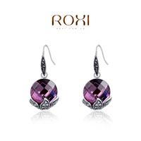 ROXI 2014 Earrings For Women Silver gold Drop Earrings Fashion Crystal Brincos Jewelry Gift 310 Free Shipping