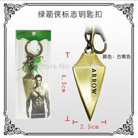 DC Superhero Green Arrow Pendant Keychain Metal Figure Toy Fashion Keychain for Men Women 10pcs/lot Wholesale