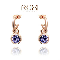 ROXI 2014 Earrings For Women gold Drop Earrings Fashion Crystal Brincos Jewelry Gift 280 Free Shipping