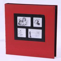 Big leather lattice album 6 inch 400 sheets family wedding album insert type large-capacity Album