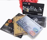 AU109 Bank card shape 2.0 USB flash disk pen drive memory stick 4GB 8GB 16GB 32GB credit card gift