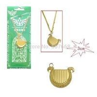 50pcs/lot Anime Game The Legend of Zelda Harp cool Matel Necklace Pendant