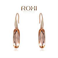 ROXI 2014 Earrings For Women gold Drop Earrings Fashion Crystal Brincos Jewelry Gift 590 Free Shipping