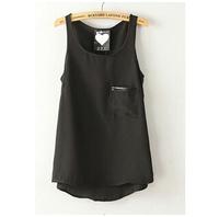 2014 Women fashion Chiffon tank Tops Vest Shirts solid camis chiffon loose top Shirt
