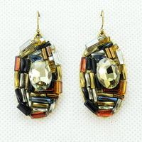 2014 New Fashion Handmade Luxury Crystal Earrings Ladies Sexy Earrings for Women Jewelry Statement Earrings