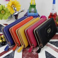 2014 Designer Brand Leather Wallet Hasp Lady Purse With Card Holder Money Multiple purse bolsas carteira feminina drop shipping