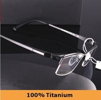 2014 NEW Designer High Quality JA Brand Fashion 100% Pure Titanium Eyeglasses Optical Frame Half Eyeglasses Frame Ultra Light