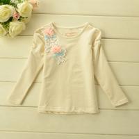 Korean  NEW Arrivals KIDS flowers Long Sleeve T Shirt