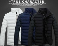 new winter new men's cotton-padded down jackets wadded fashion Overcoat male Thicken down & parkas casual warm clothing