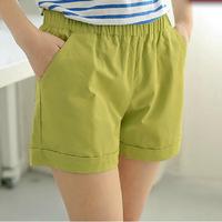 New 2014 candy color women shorts fashion ladies shorts hot short pants plus size cotton female shorts femininos 865 S~XXL