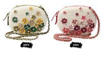 Brand National Rivet Leather Fower Cross Body Bags Bolsas Femininas 2014 Women Chain Shoulder Messenger Bags Handbags