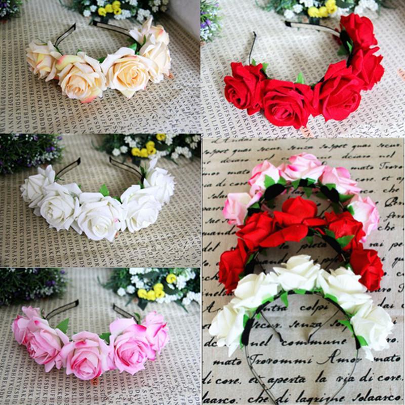 Венок для волос с цветами