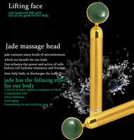 Magic HOT Selling 24K Golden jade massage head Energy Beauty Esthetic Bar Face Massager Device Gift Beauty Care Free Shipping