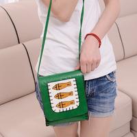 2014 new cartoon cute mini camera bag fashion handbags shoulder diagonal package three fish leather phone bag