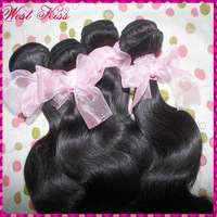 "Unprocessed Mongolian body wave Virgin hair 3 bundles mixed(12""-30"")7A raw extensions, fast free shipping"