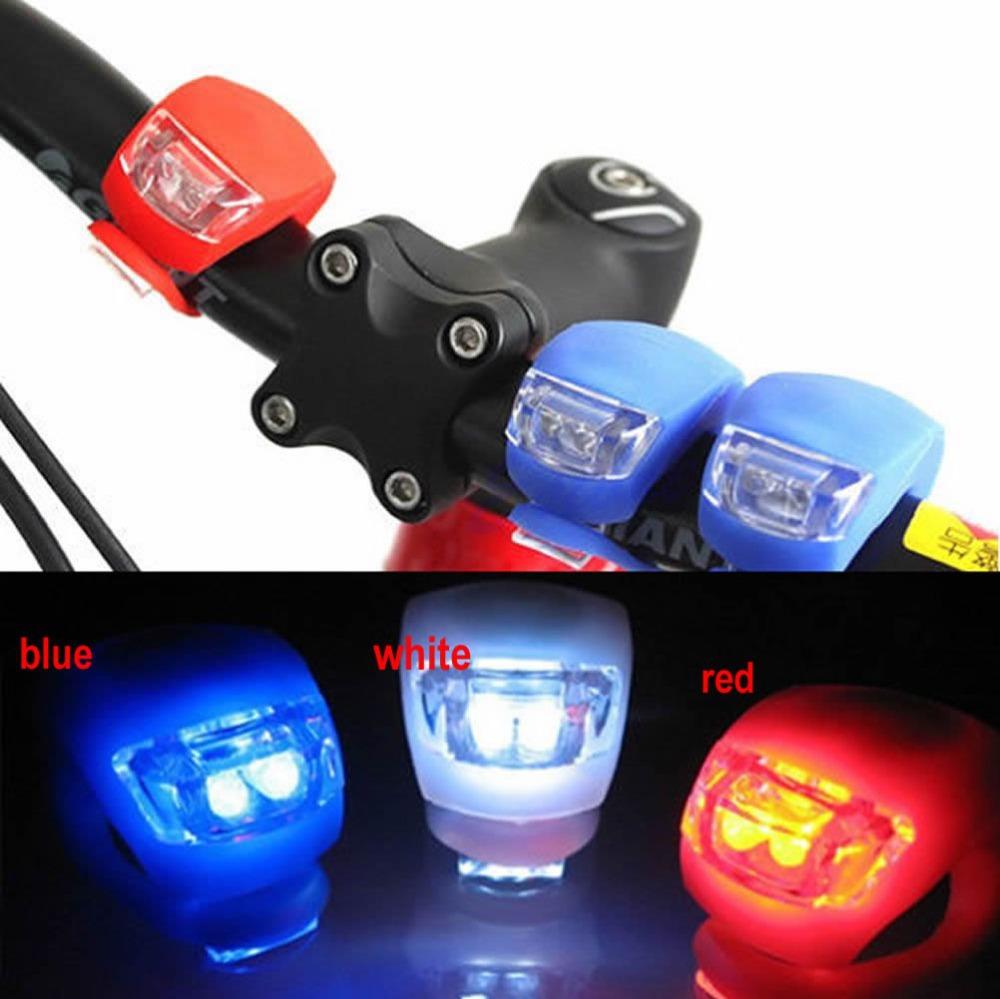 Free Shipping Bike Bicycle Cycling Waterproof 2 Leds Lamp Front Flash Light Set Silicone(China (Mainland))