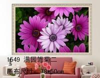 Free shipping DIY Diamond Painting 1549  Purple Daisy Flower Rhinestone Kits Diamond Embroidery Set  Square Diamond Series