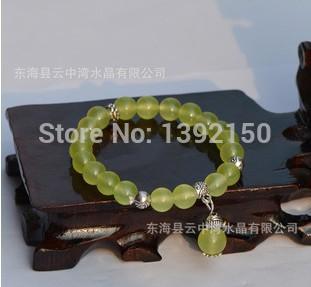 2014 Original New Natural crystal jewelry National wind Bracelet Jewelry trinkets Grape Chalcedony Bracelet(China (Mainland))