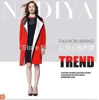 autumn and winter fashion slim wool coat medium-long plus size female cashmere woolen outerwear